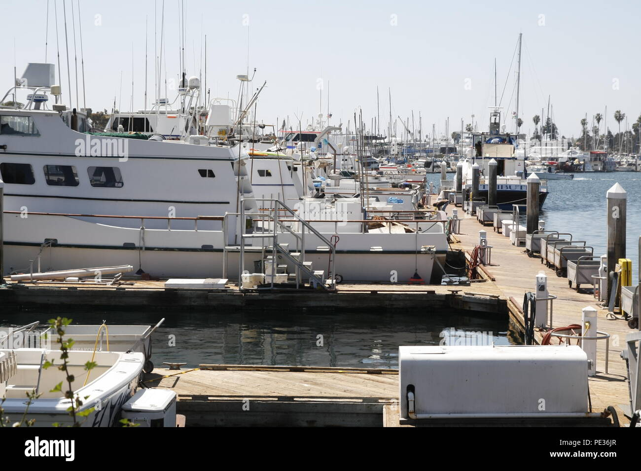 Harbor and Yacht - Stock Image
