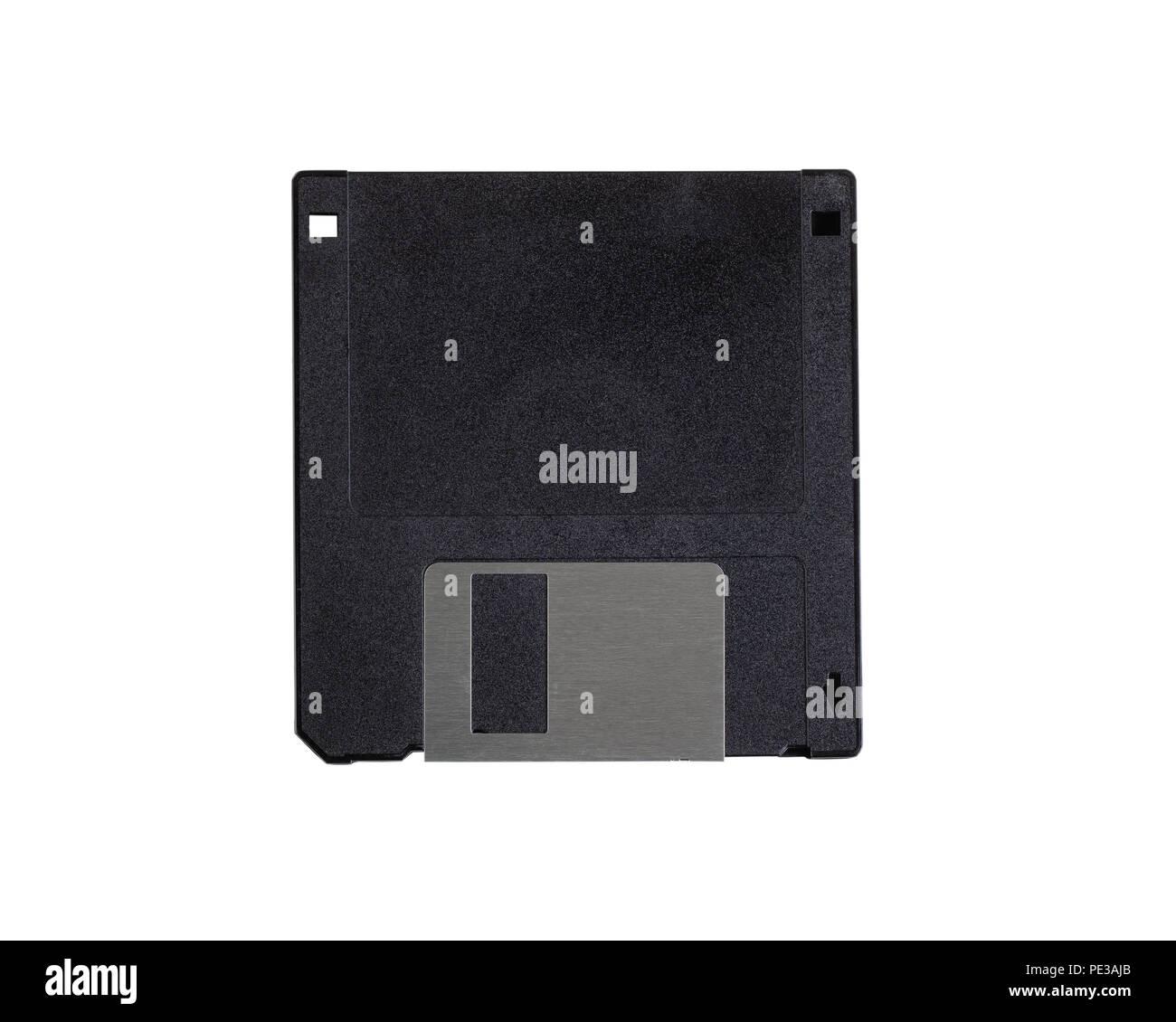 Old floppy disk isolated on white background - Stock Image