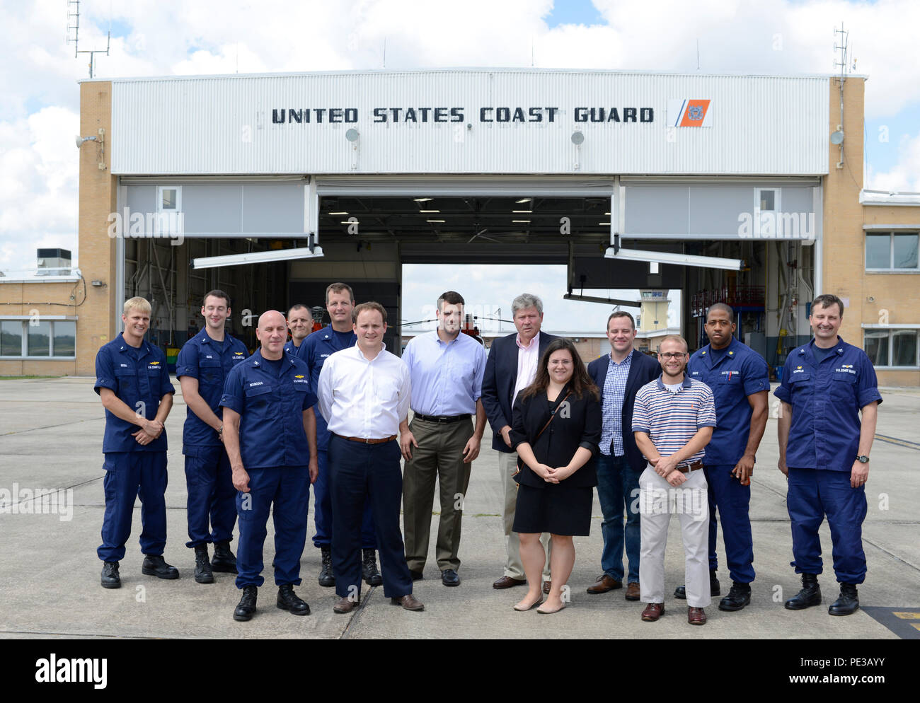 members from coast guard air station new orleans and staff delegates for louisiana congressionals take a