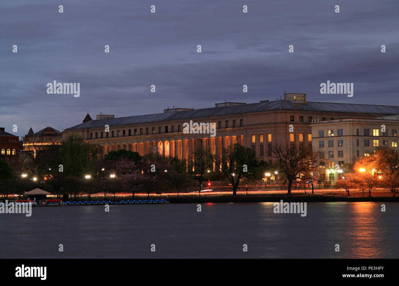 Bureau of Engraving and Printing Edifice in Washington, D.C. - Stock Image