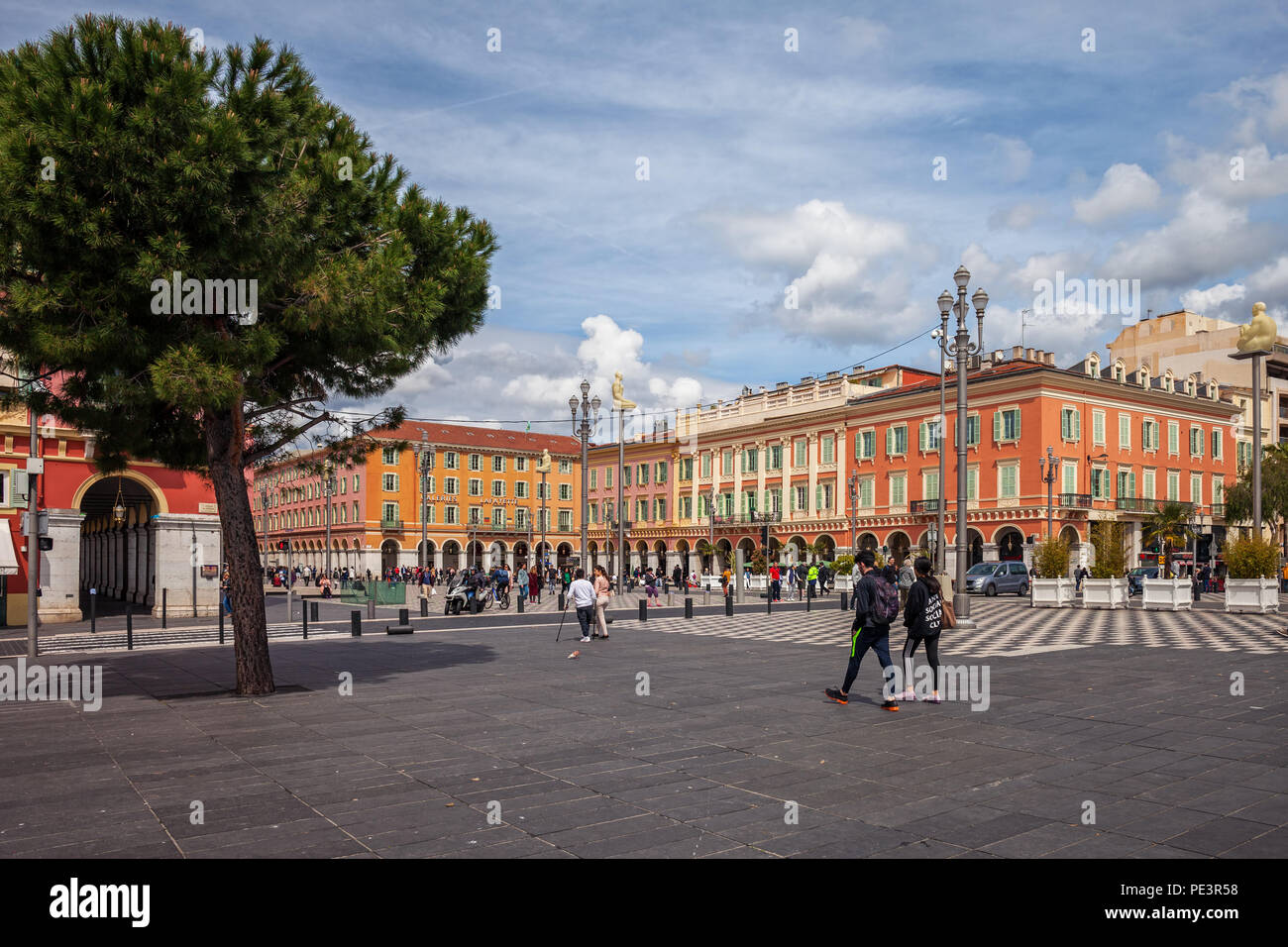 France, city of Nice, Place Massena main square in the city center Stock Photo