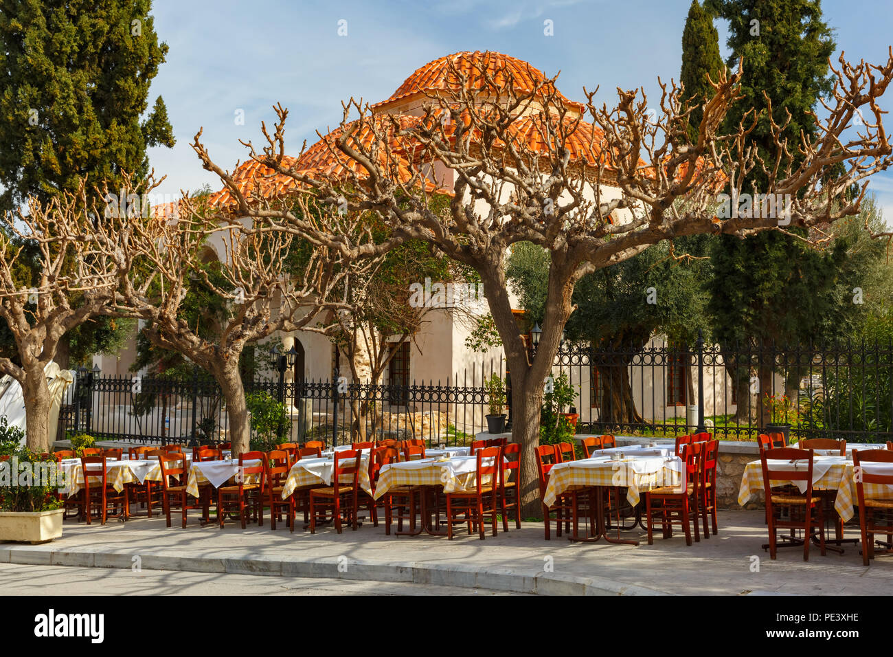 Famous Placa district in Athens, Greece Stock Photo