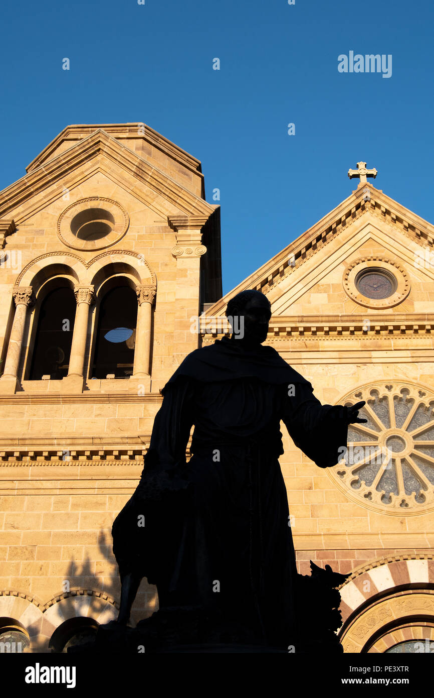 Cathedral Basilica of St. Francis of Assisi, Santa Fe, NM, USA, by Dominique Braud/Dembinsky Photo Assoc - Stock Image
