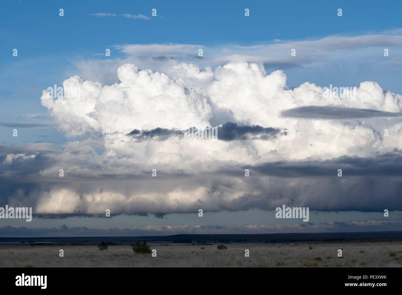 Cumulonimbus clouds. Mora County, NM, USA, by Dominique Braud/Dembinsky Photo Assoc Stock Photo