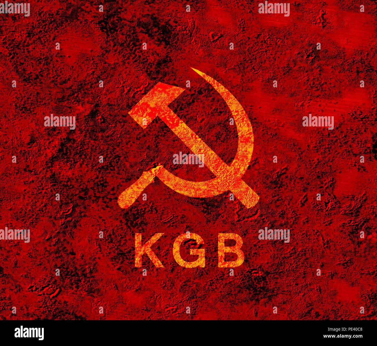 USSR symbol KGB - Stock Image