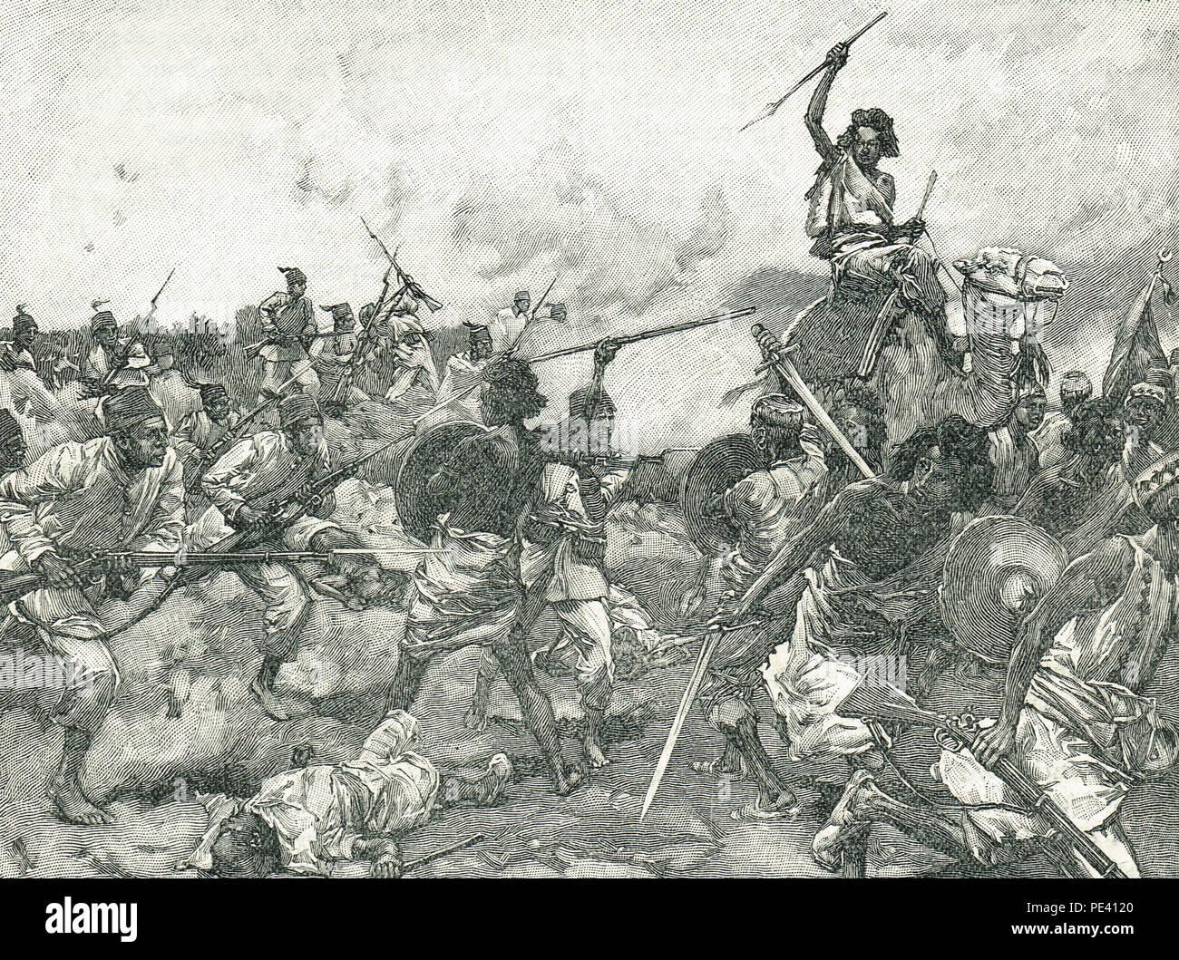 Battle of Suakin, 20 December 1888, Mahdist War, also known as the Battle of Gemaizah, - Stock Image