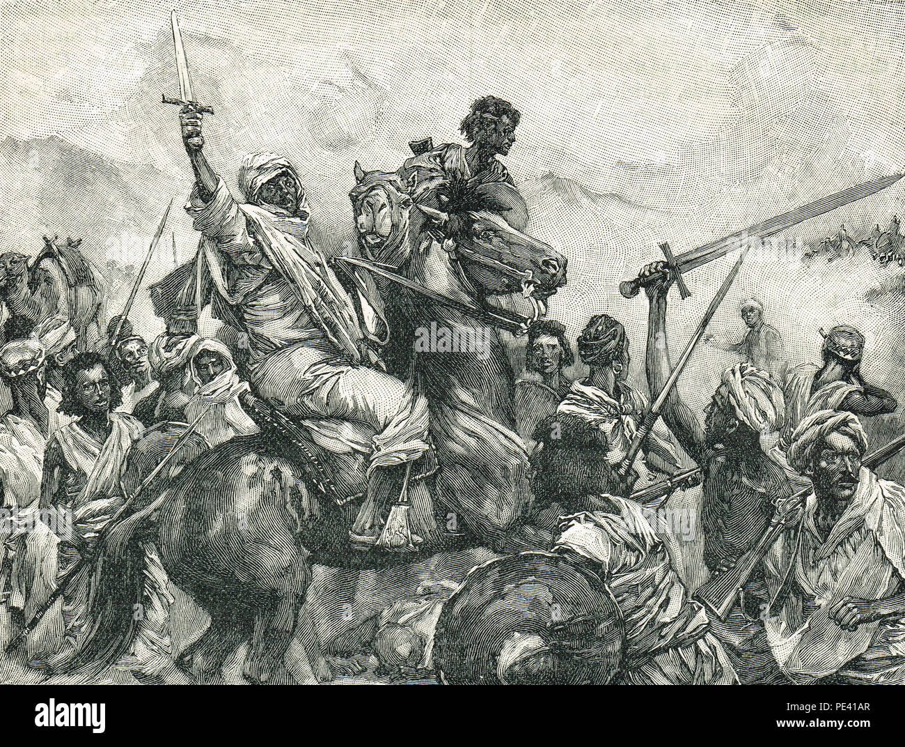 Battle of Toski,  3 August 1889 - Stock Image