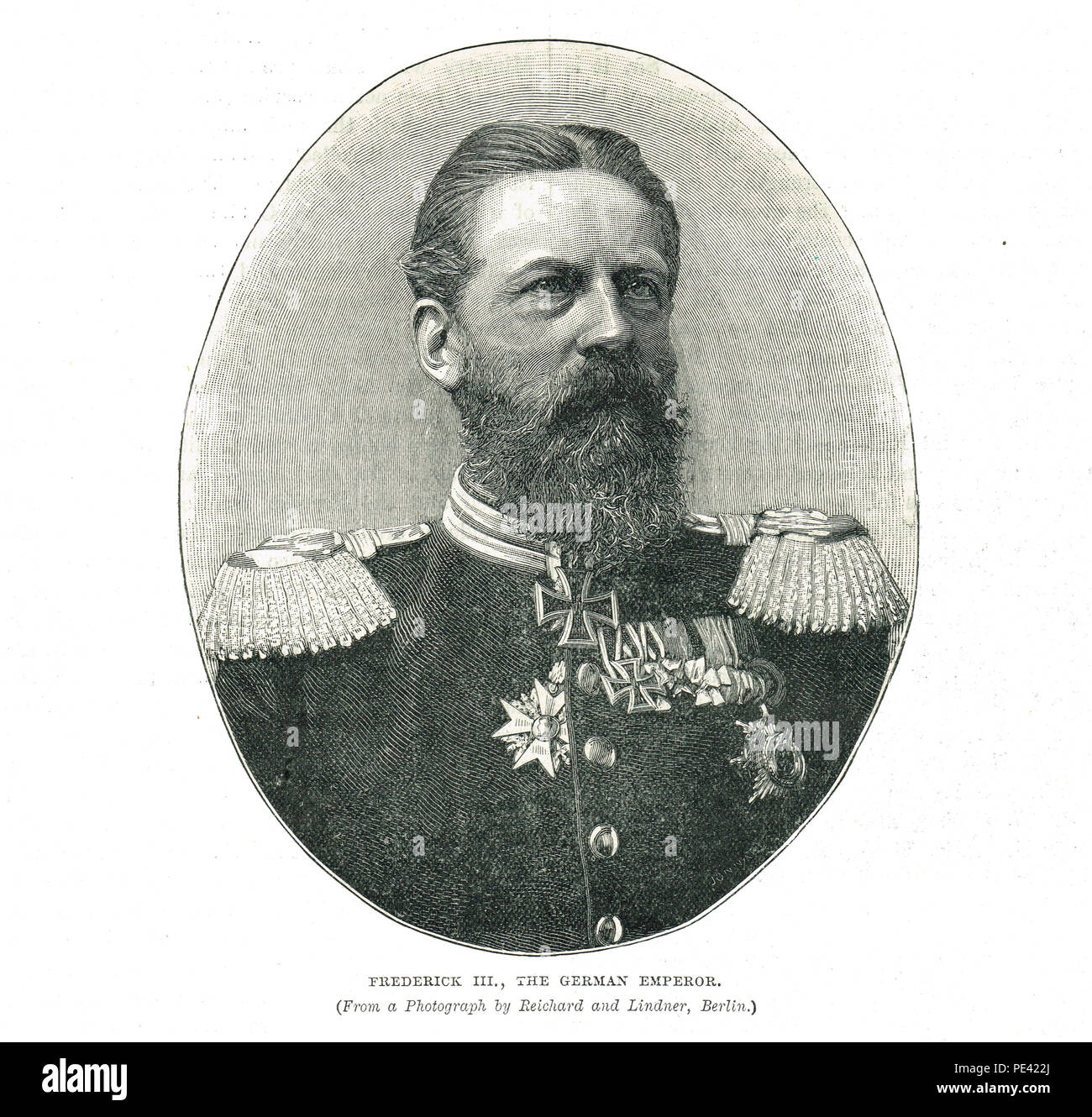 Frederick III, German Emperor, and King of Prussia for ninety-nine days in 1888 - Stock Image