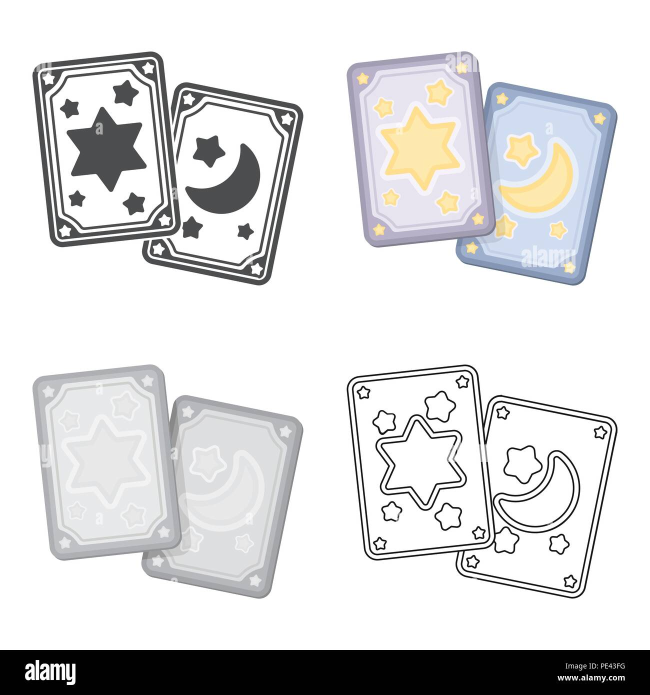 Tarot Cards Stock Vector Images Alamy