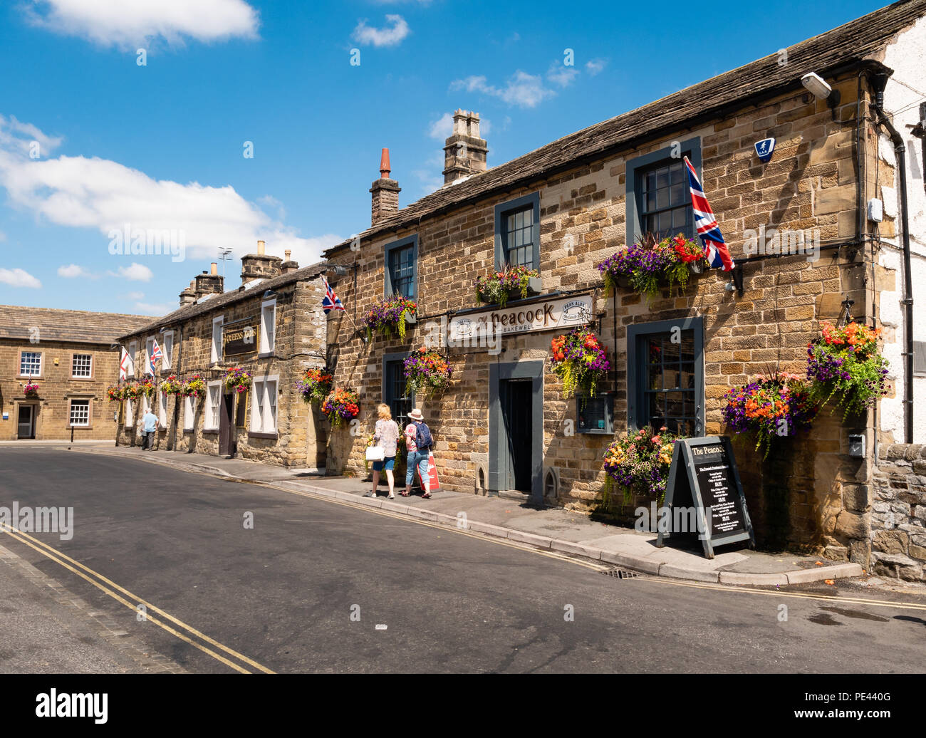 The Peacock Inn in the town centre of Bakewell in the Derbyshire Peak District UK - Stock Image