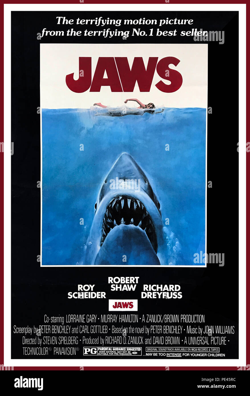 Jaws Vintage Movie Poster TERROR FROM THE DEPTHS Licensed T-Shirt All Sizes