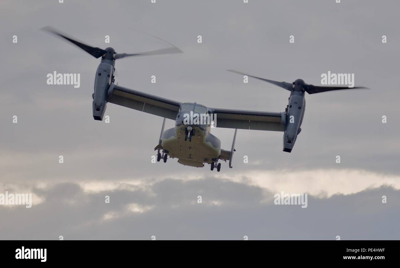 United States Air Force - Bell Boeing CV-22B Osprey at the 2018 Royal International Air Tattoo - Stock Image