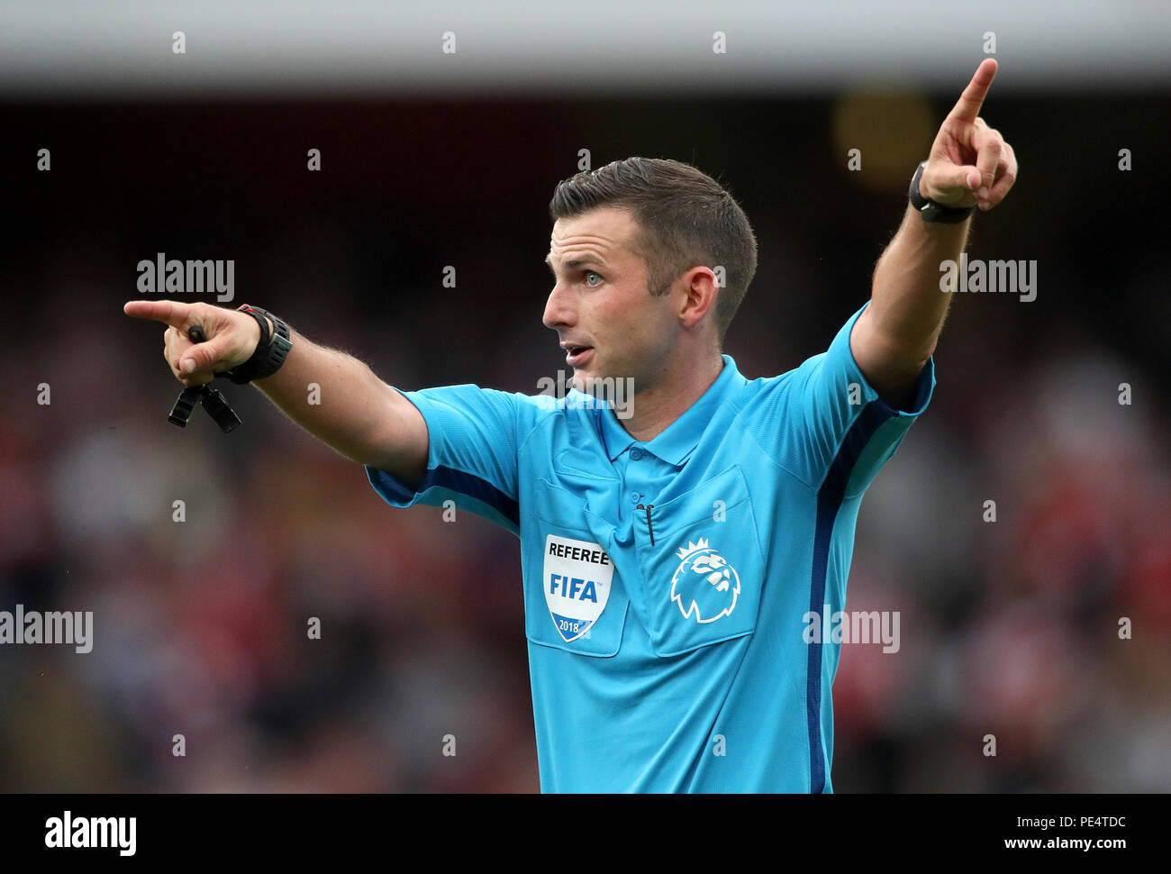 Match referee Michael Oliver during the Premier League match at the ...