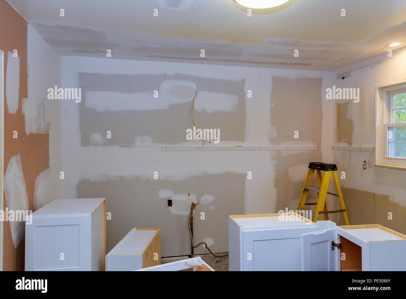 Kitchen cabinets installation Blind corner cabinet, drawers ...