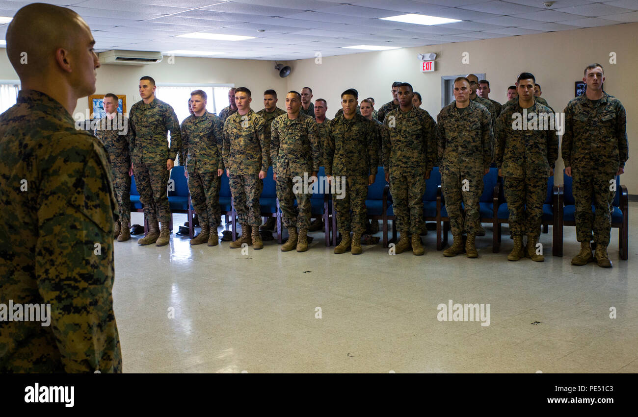 Lance Corporal Leadership Seminar Stock Photos & Lance