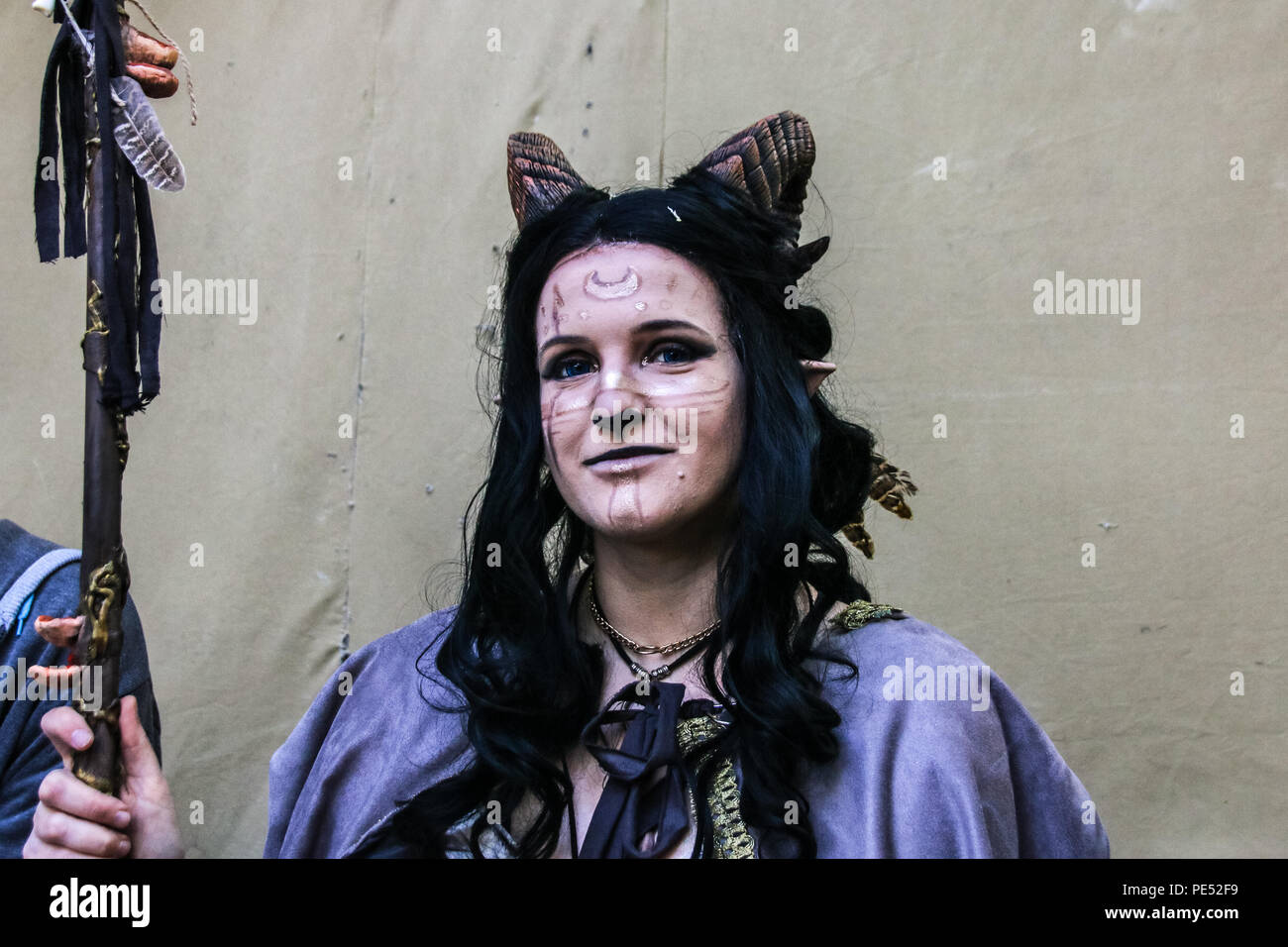 Mythical Creatures Halloween Costumes.Magdeburg Germany May 20 2018 Portrait Of A Mythical