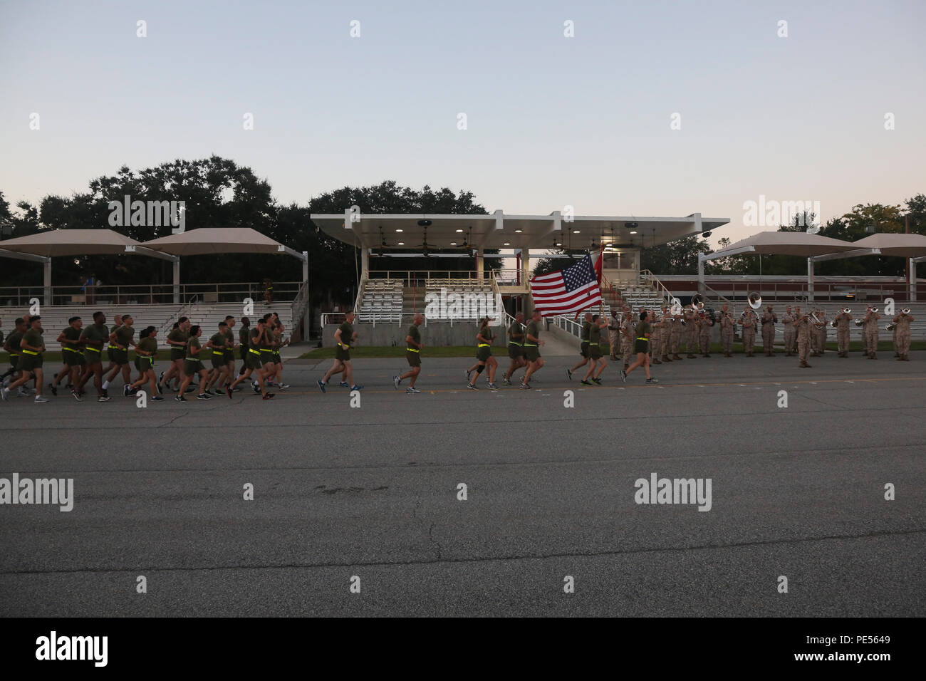U S Marines With The Parris Island Marine Band