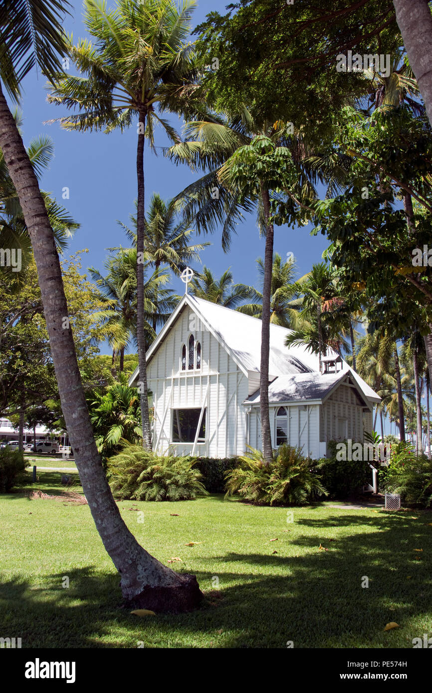 Saint Mary's by the Sea is an historic, gothic-style, timber church in Port Douglas, Queensland, Australia. - Stock Image