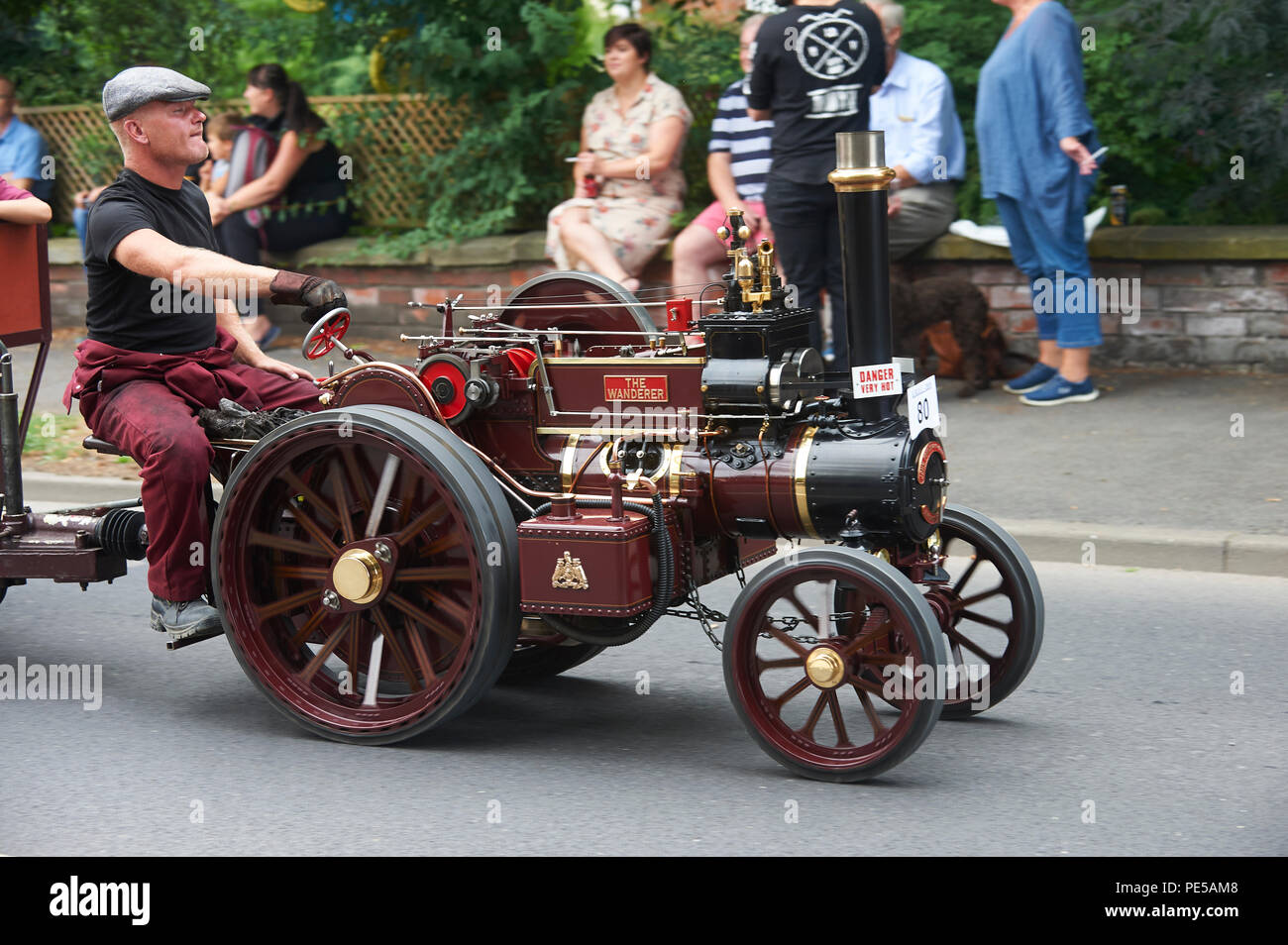 Miniature Steam Engines on the Road Run Through Driffield East Yorkshire, England, UK, GB. Stock Photo