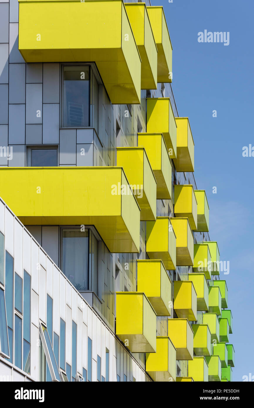 Central housing development apartment blocks, Town Hall Square, Barking, London Borough of Barking, Greater London, England, United Kingdom - Stock Image