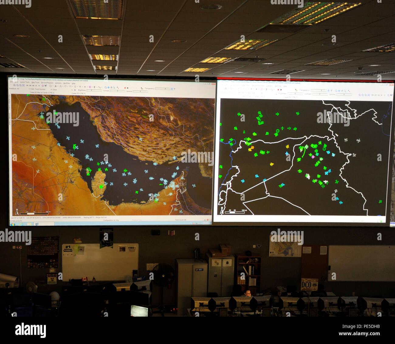 USCENTCOM Al Udeid Air Base Combined Air Operations Center CAOC Italian Cell