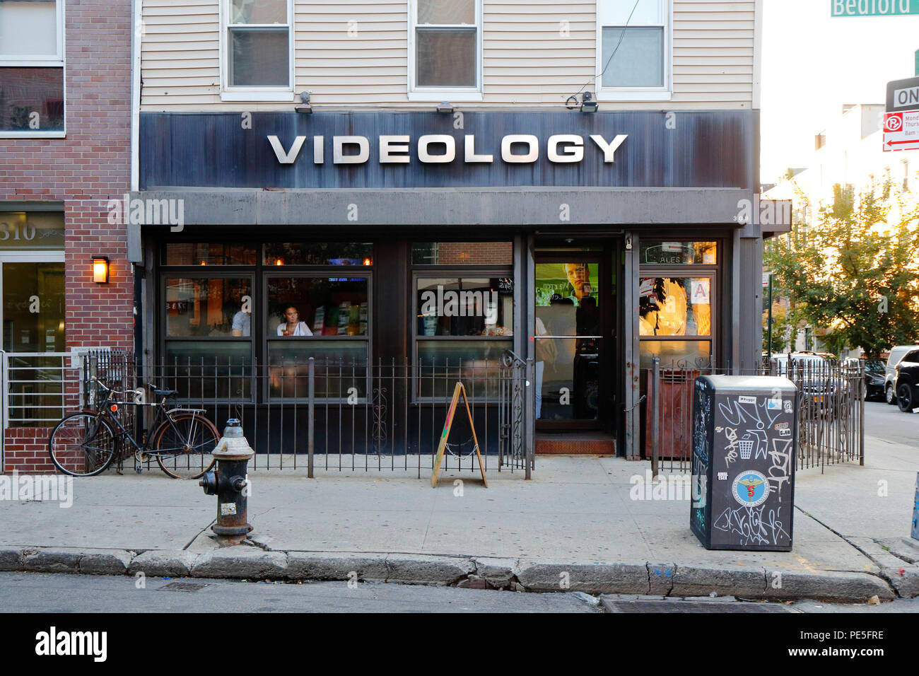 Videology, 308 Bedford Ave, Brooklyn, NY - Stock Image