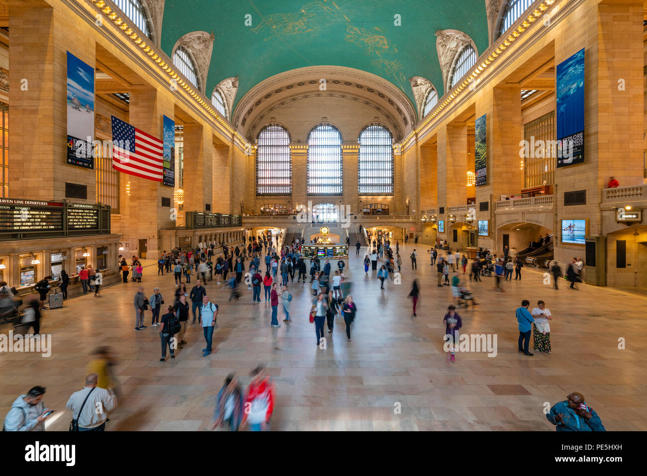 Commuters at Grand Central Station in New York - Stock Image