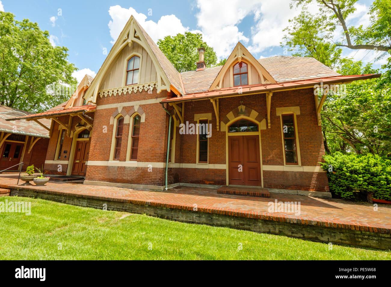 Rockville Railroad Station, 98 Church Street, Rockville, Maryland - Stock Image