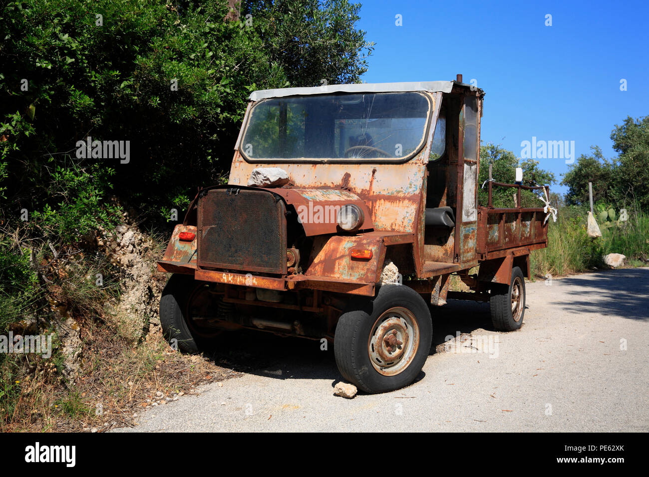 Old olive transporter, Corfu, Greece, Europe - Stock Image