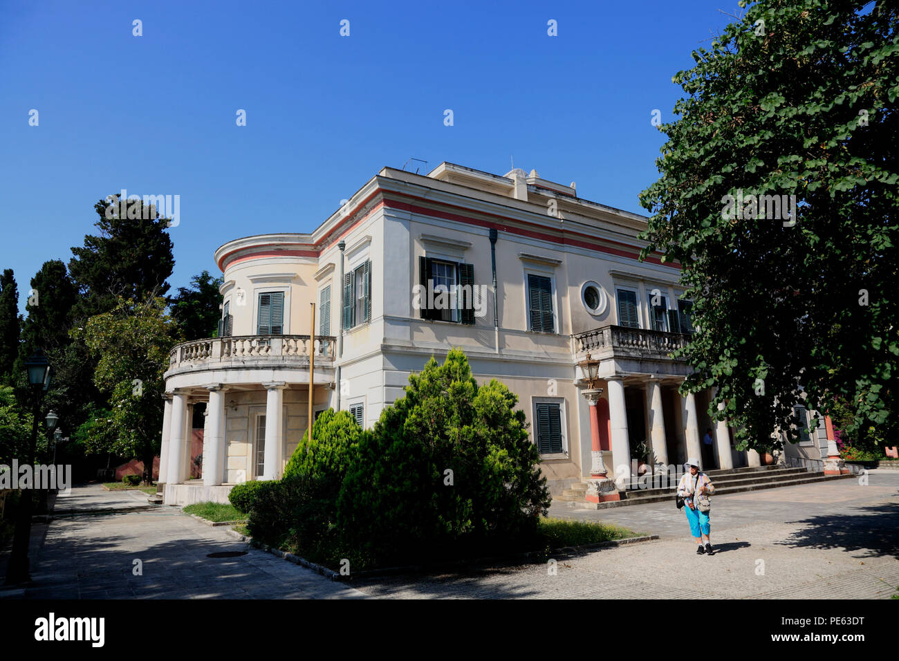 Villa Mon Repos, Corfu, Greece, Europe - Stock Image
