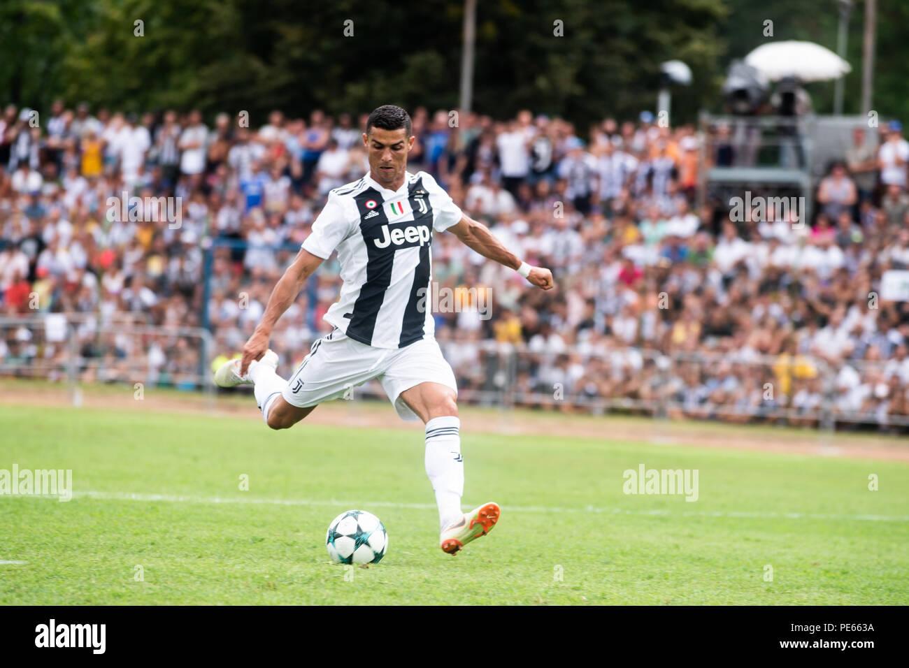 Turin Italy 12th Aug 2018 Cristiano Ronaldo Juventus During The Serie A Preseaosn Match Juventus Vs