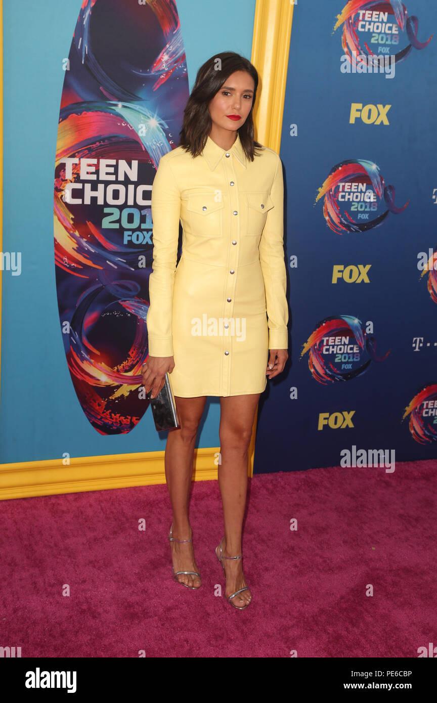 INGLEWOOD, CA - AUGUST 12: Nina Dobrev, at FOX's Teen Choice