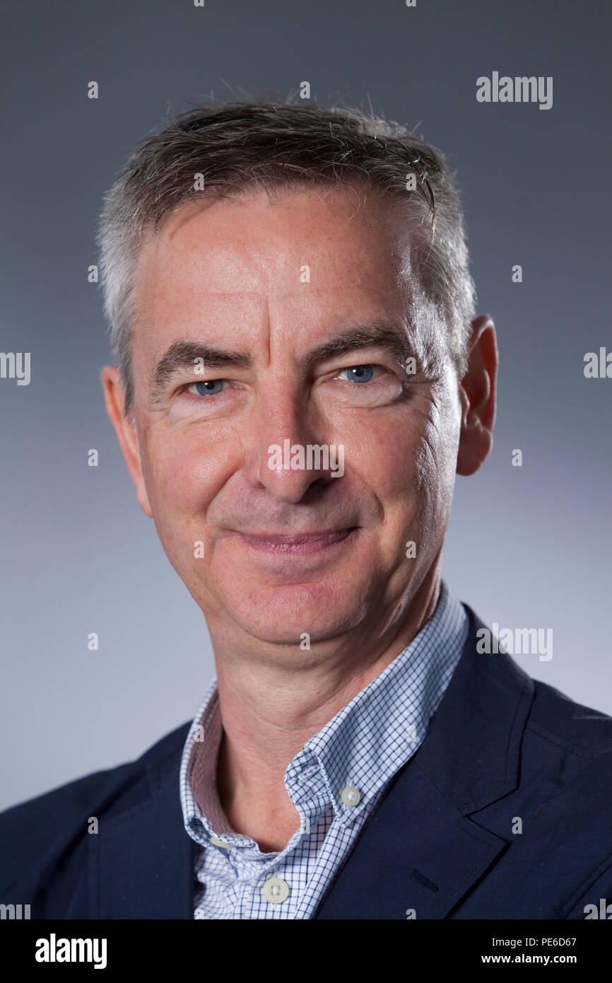 Edinburgh, UK. 13th August, 2018.  John Boughton, the British social historian whose blog Municipal Dreams is one of the most widely read and respected chronicles of council housing's past and present. Pictured at the Edinburgh International Book Festival. Edinburgh, Scotland.  Picture by Gary Doak / Alamy Live News - Stock Image