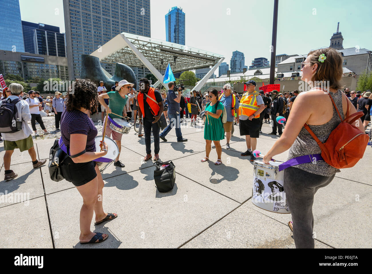 AUGUST 11, 2018 - TORONTO, CANADA: 'STOP THE HATE' ANTI RACISM RALLY. - Stock Image