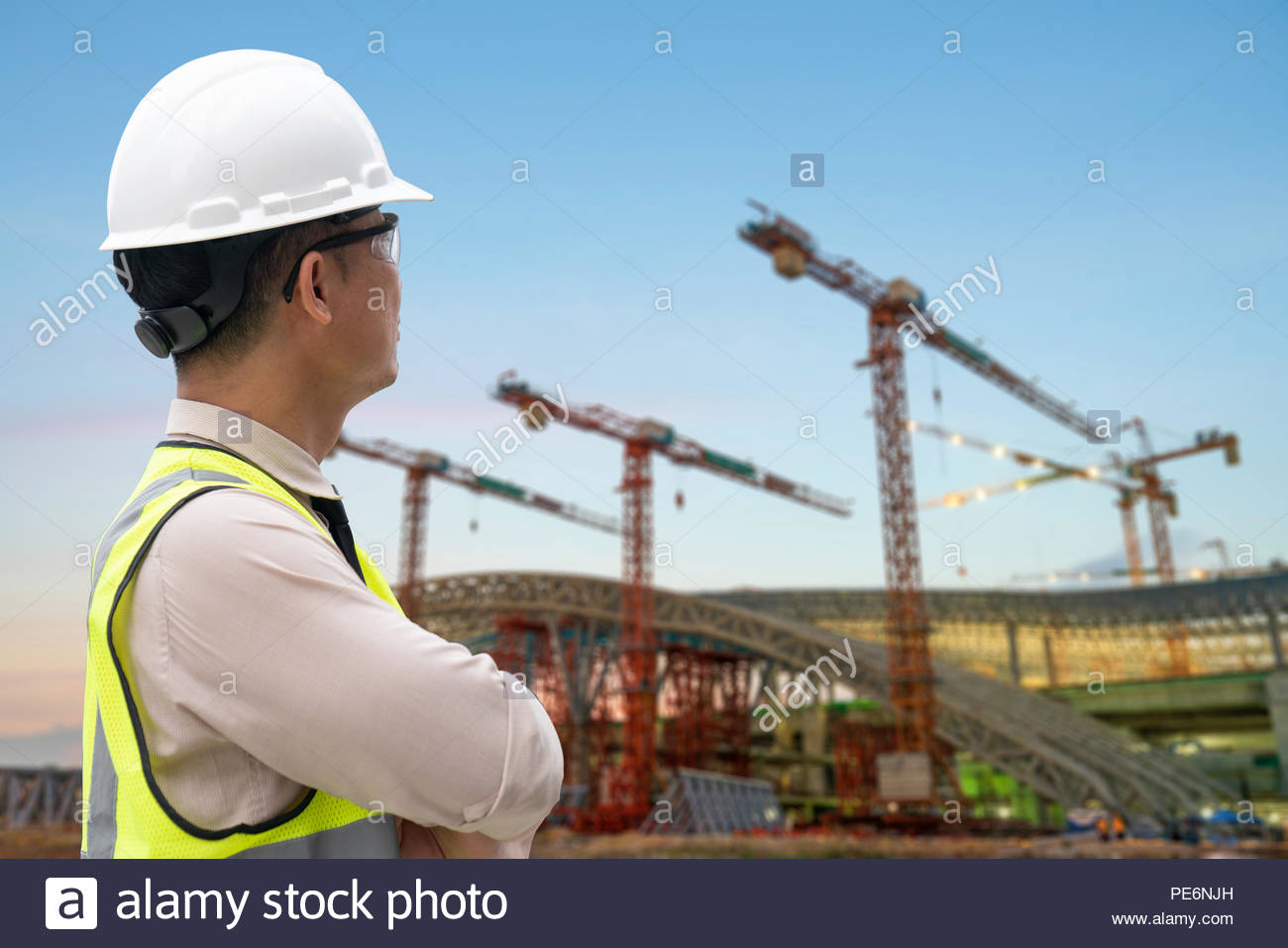 business, building, teamwork and people concept - Stock Image