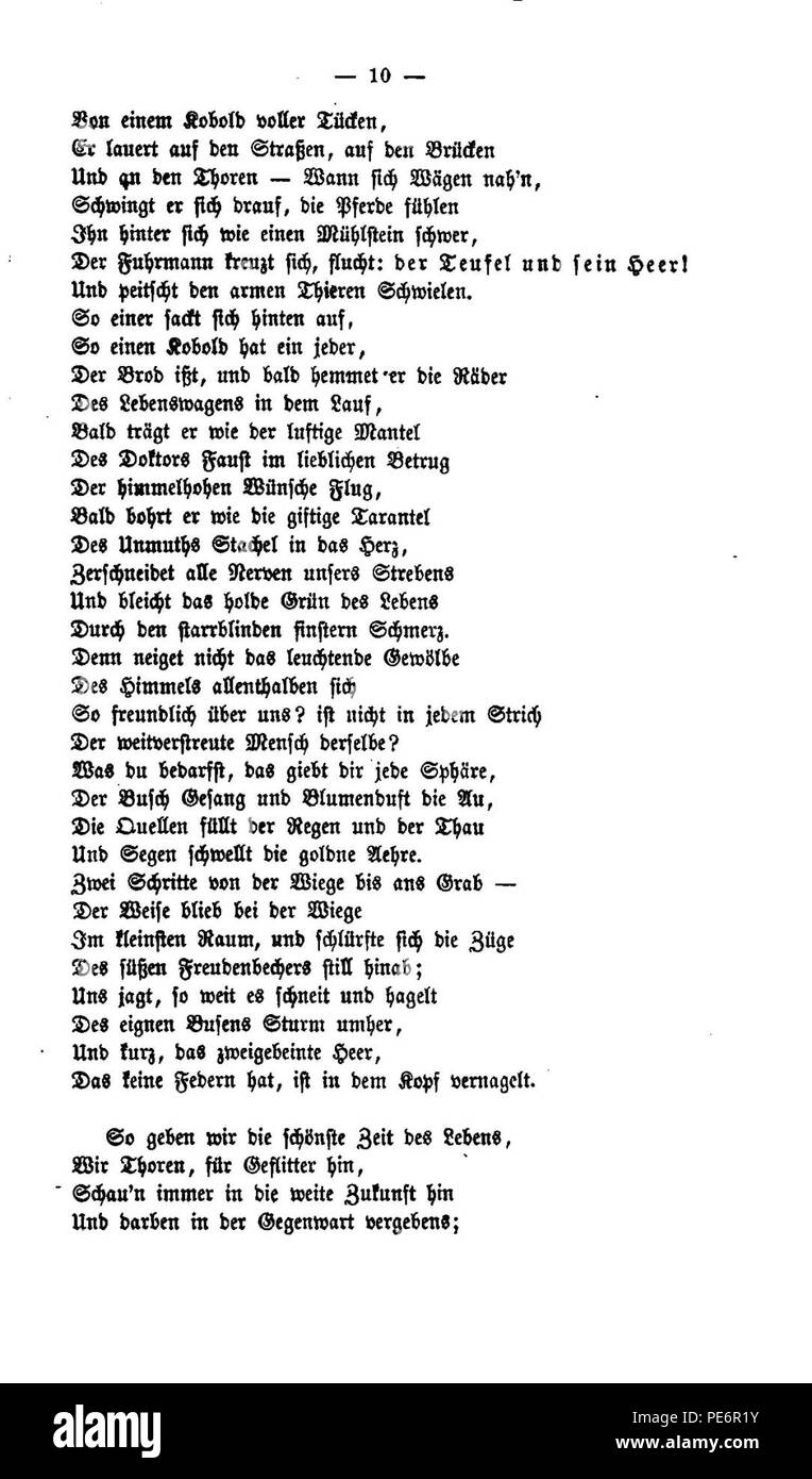 Arndt Gedichte 1860 010 Stock Photo 215279399 Alamy
