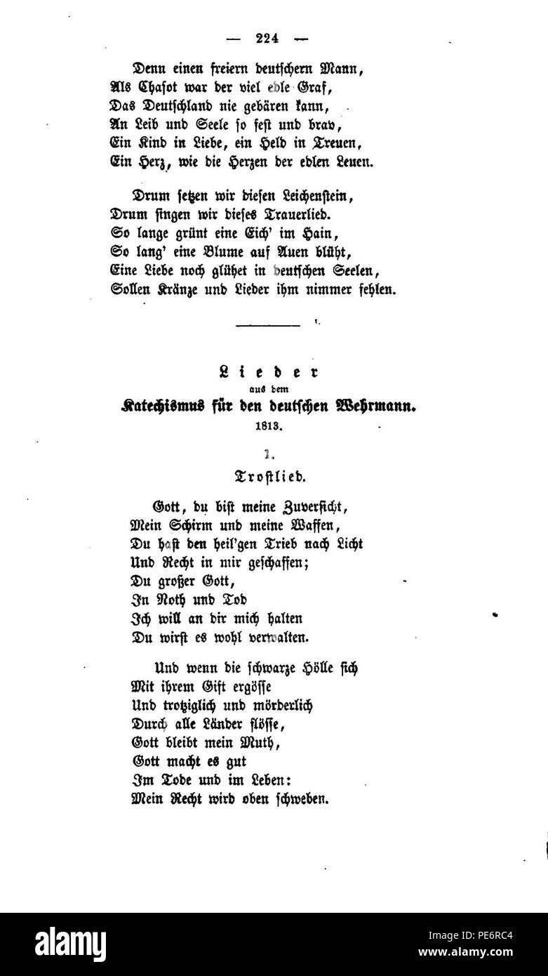 Arndt Gedichte 1860 224 Stock Photo 215279684 Alamy