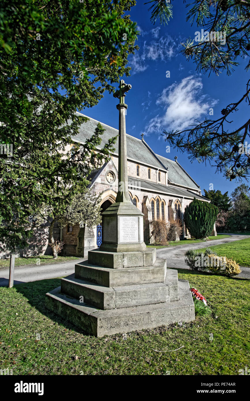 The beautiful Trinity church in Whitecross, Hereford is located on the west of the conurbation of Hereford. - Stock Image