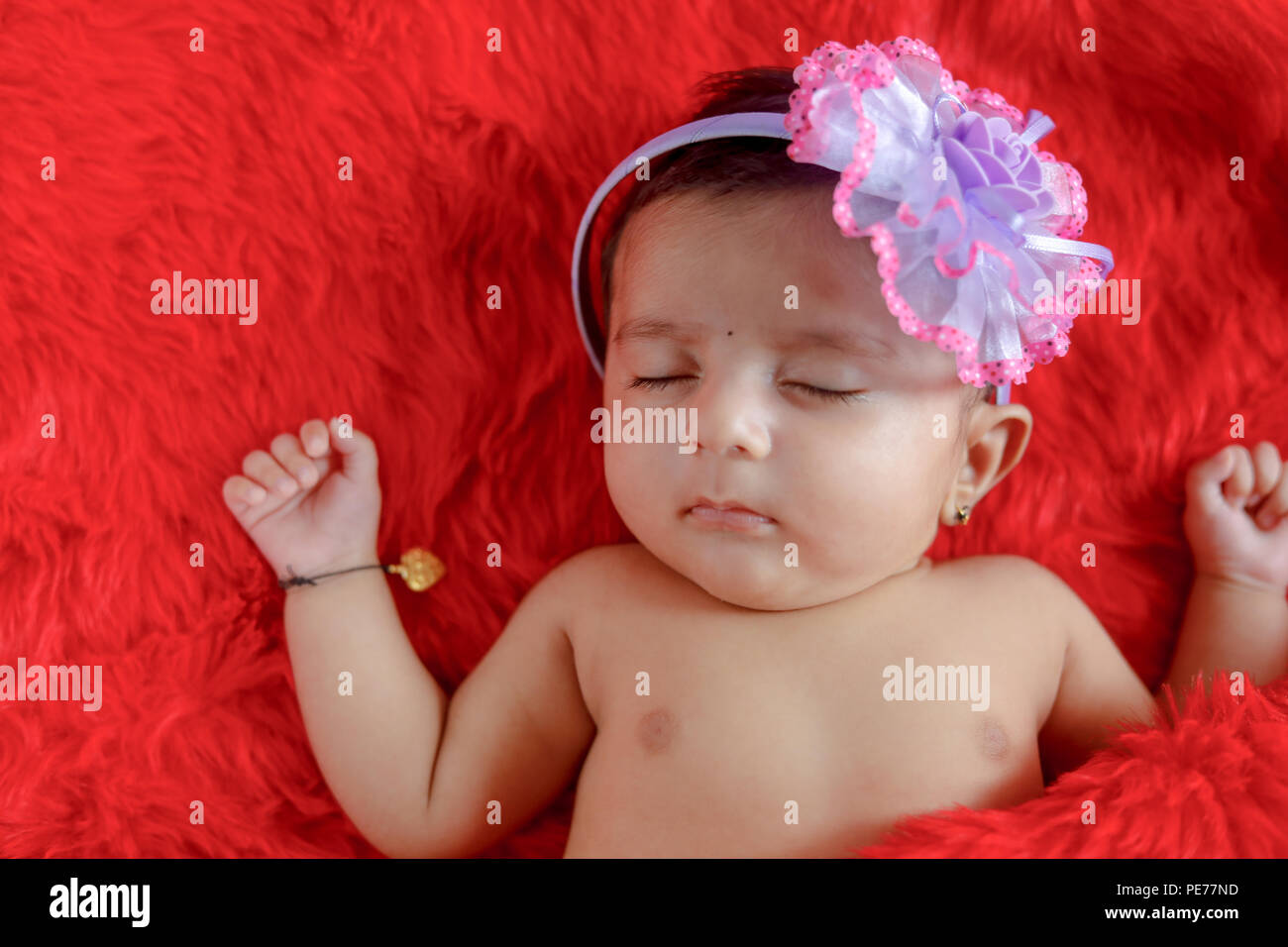 Cute Indian Baby Girl Stock Photo 215289353 Alamy