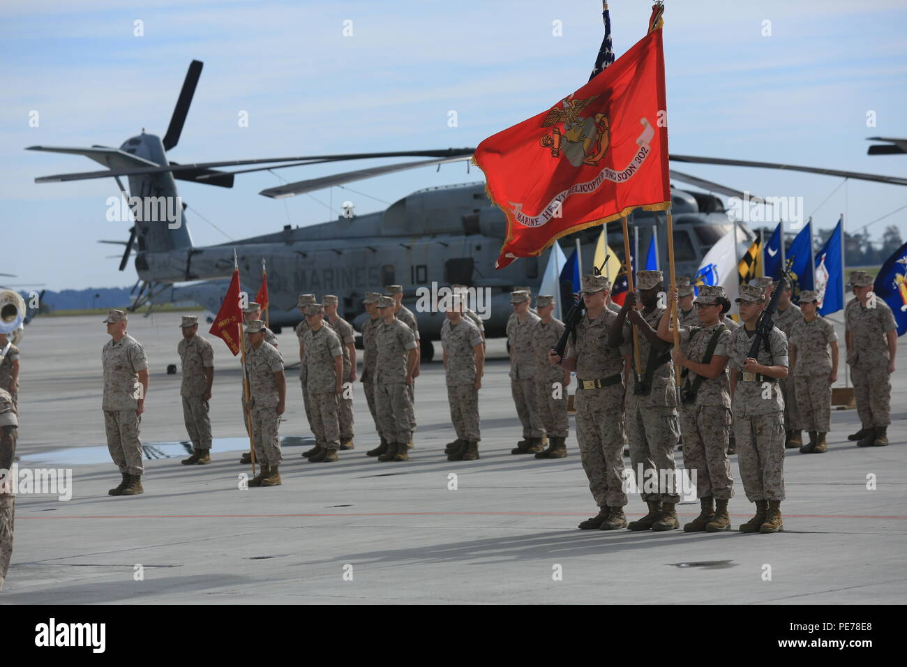 U S  Marines assigned to the Marine Heavy Helicopter