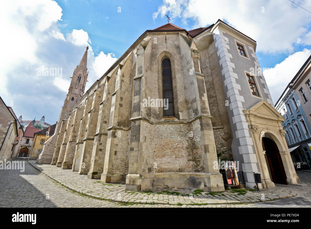 Cathedral of the Exaltation of the Holy Cross, Bratislava, Slovakia - Stock Image