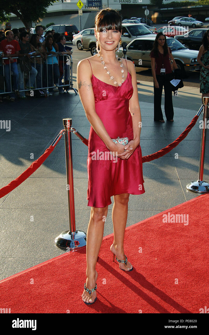 Lena Heady arriving at the Brothers Grimm Premiere at the Director Guild Theatre in Los Angeles. August 8, 2005.HeadyLena003 Red Carpet Event, Vertical, USA, Film Industry, Celebrities,  Photography, Bestof, Arts Culture and Entertainment, Topix Celebrities fashion /  Vertical, Best of, Event in Hollywood Life - California,  Red Carpet and backstage, USA, Film Industry, Celebrities,  movie celebrities, TV celebrities, Music celebrities, Photography, Bestof, Arts Culture and Entertainment,  Topix, vertical, one person,, from the year , 2005, inquiry tsuni@Gamma-USA.com Fashion - Full Length - Stock Image