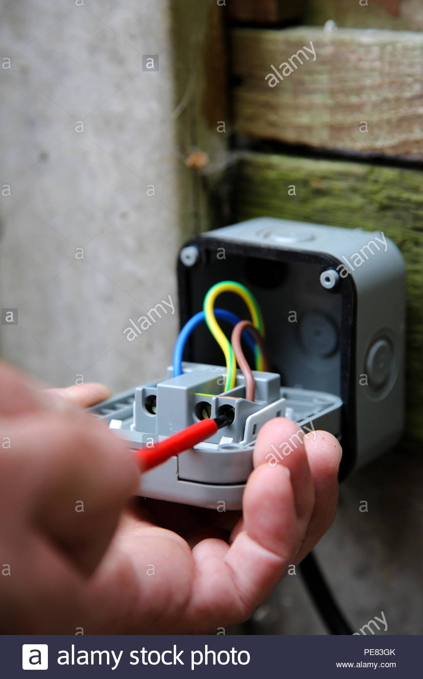 Pleasing Man Wiring An Electric Socket Using An Electrical Screwdriver Wiring Cloud Mangdienstapotheekhoekschewaardnl