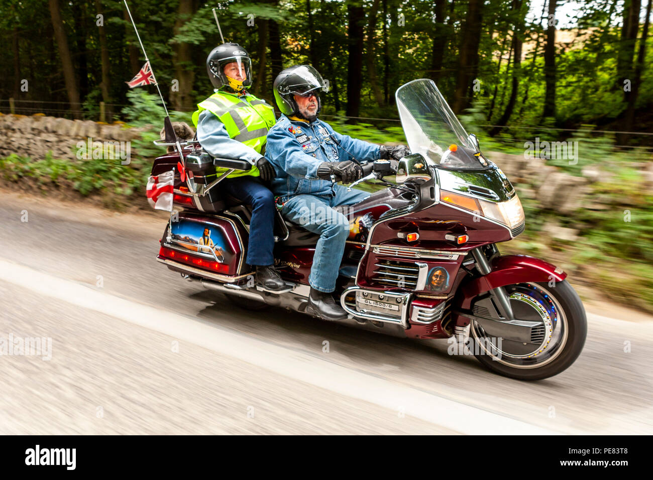 Honda Goldwing Owners Take To The Road In The Derbyshire Peak