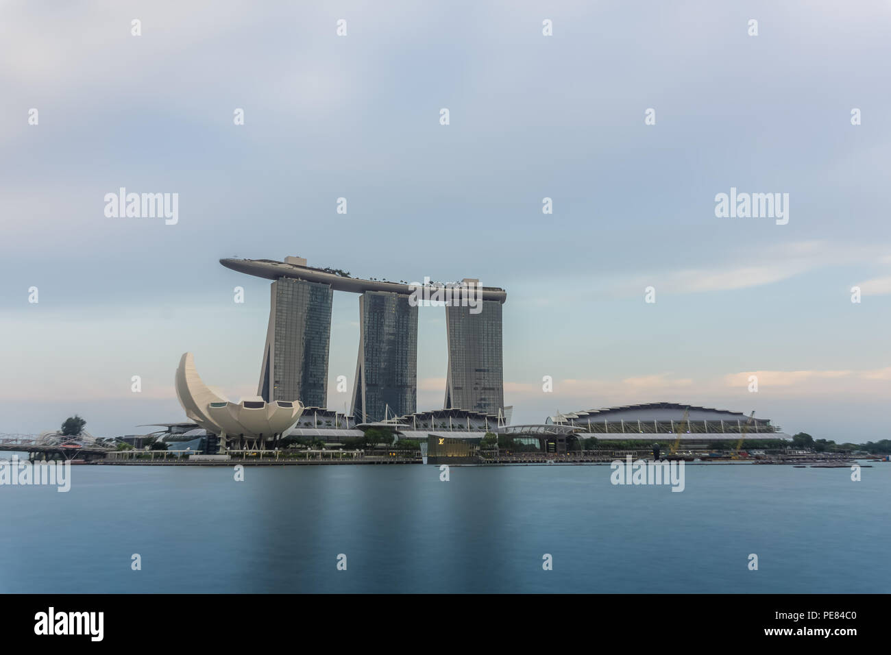Marina Bay Sands at Marina bay, Singapore. - Stock Image