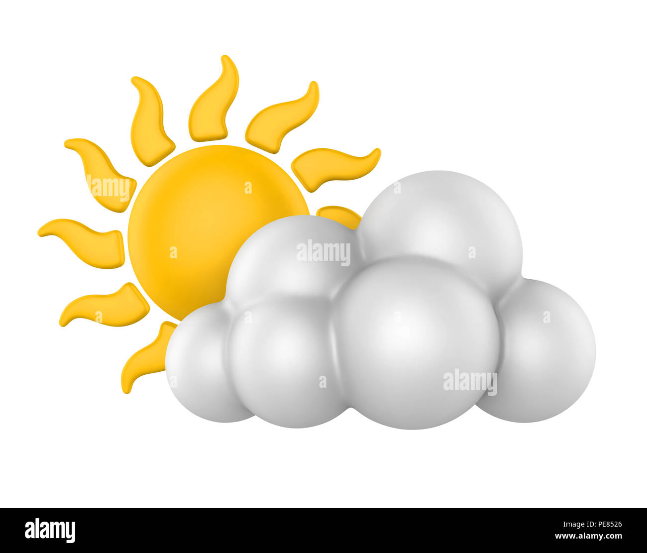 Weather Icon Sunny - Stock Image