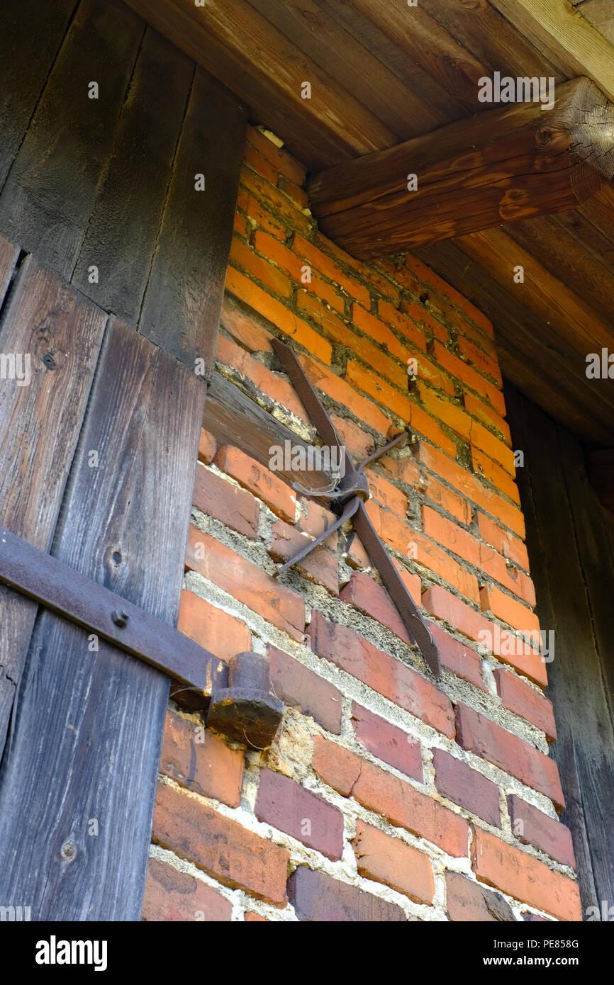 Door Hinges On Old Barn On A Farm In Poland
