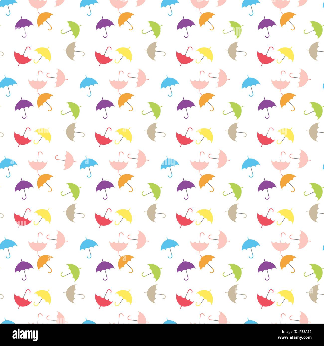 Watercolor Umbrellas Seamless Pattern Colorful Vector Illustration Suitable For Wallpaper Web Page Background Kids Textile Eps 10