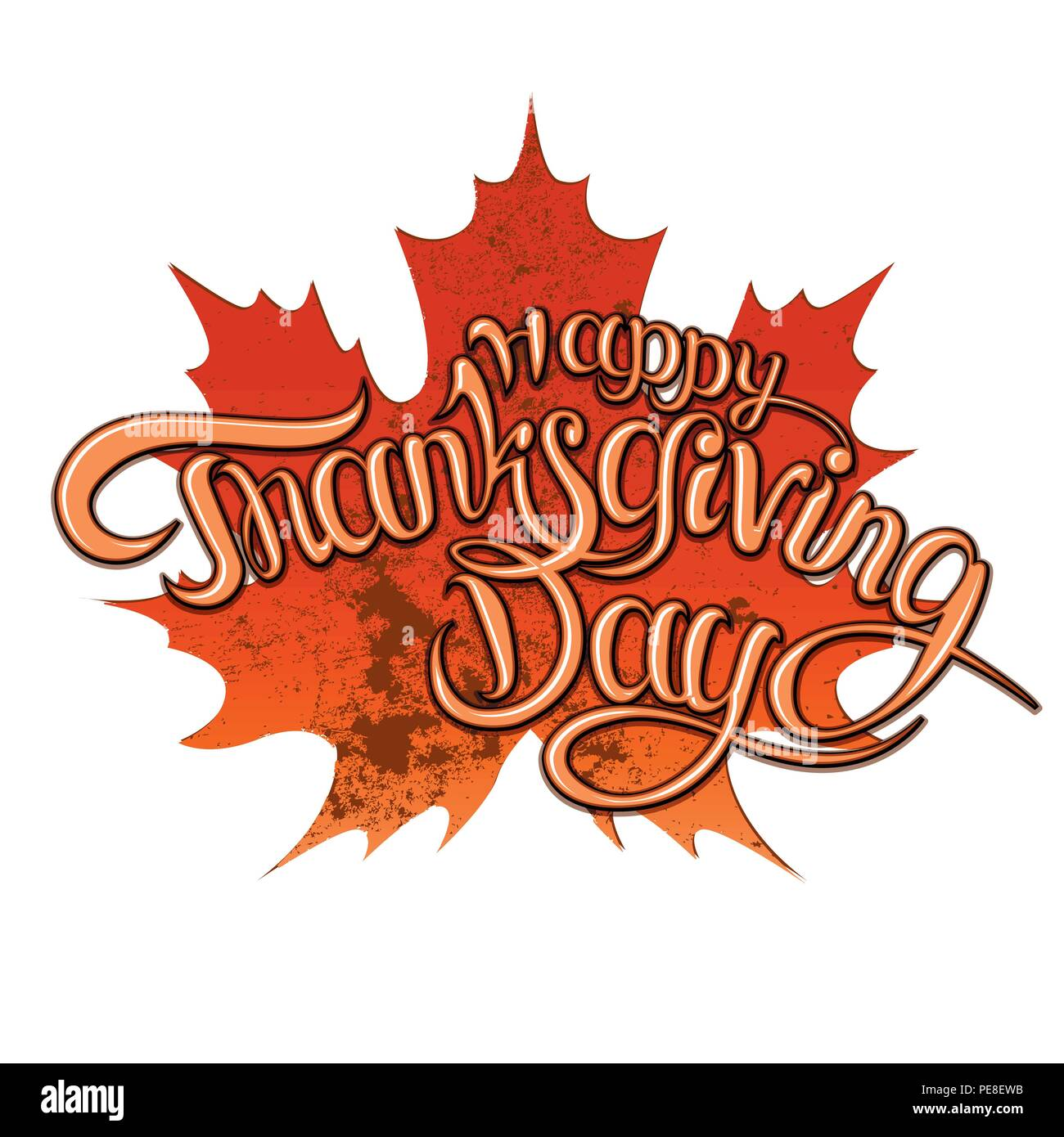 Thanksgiving greeting card with happy lettering text vector thanksgiving greeting card with happy lettering text vector illustration jpg flyer post web eps m4hsunfo