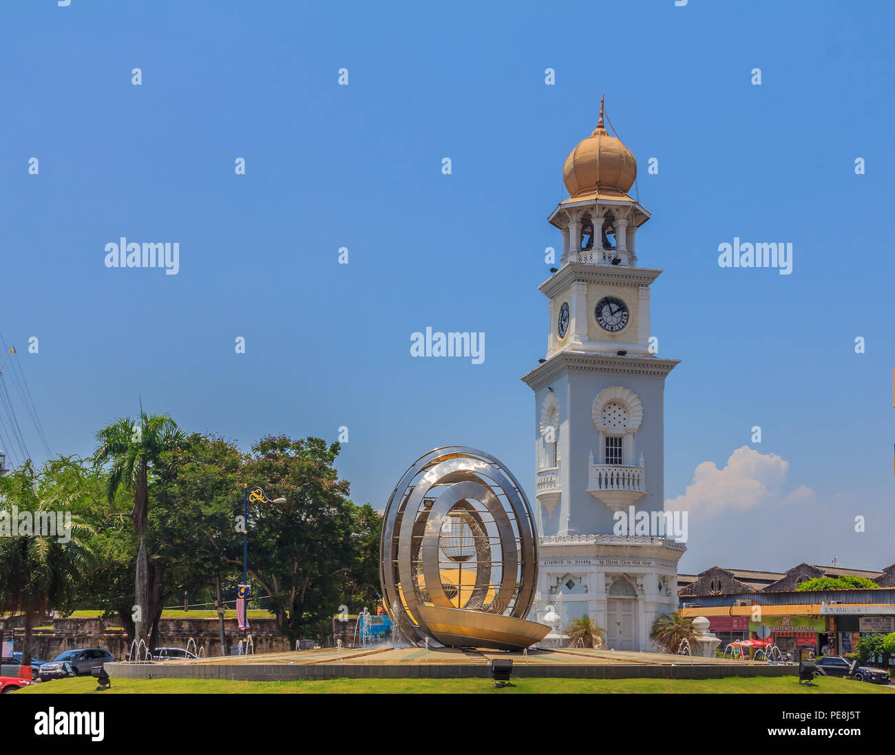 Colonial Building Georgetown Penang Malaysia Stock Photos